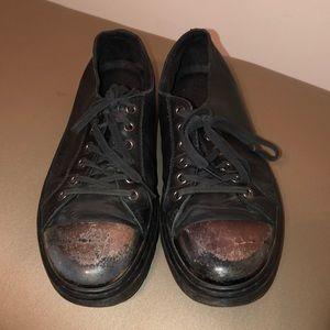 Dr Martens- Alexei Preloved mirror cap toe shoe